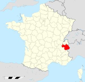 carte Savoie